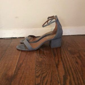 Steve Madden ankle strap in suede